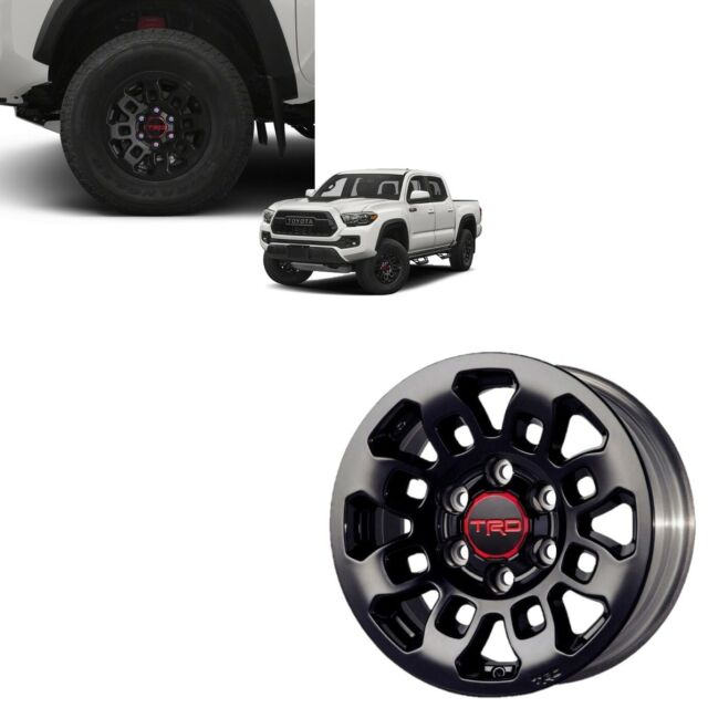 Toyota Tacoma Trd Pro 16 Black Alloy Rims Set Of 4 Like For Sale Online Ebay