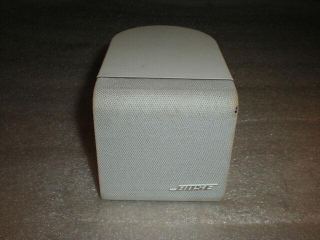 Bose Lifestyle Acoustimass Single Cube Surround Sound Speaker White W/ Mount