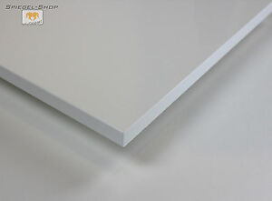 Tischplatte weiß nach maß  TISCHPLATTE WEIß HOCHGLANZ DEKORSPANPLATTE BESCHICHTET 19 MM TISCH ...