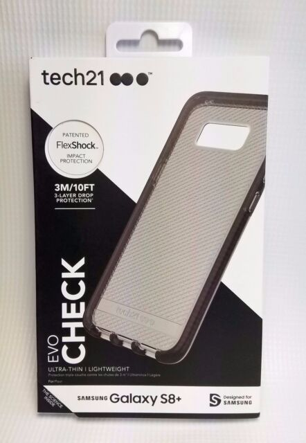 separation shoes 576f6 2341e tech21 EVO Check Case for Samsung Galaxy S8 Plus Smokey Black