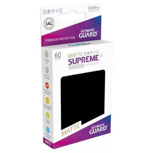 Matte BLACK Ultimate Guard SUPREME UX Japanese Size Card Sleeves 60