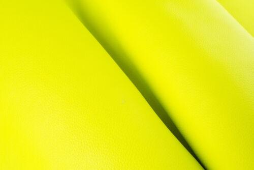 YELLOW Neon ITALIAN FLEET Leather Calf Cow Hide Scraps Scrap Square Pieces