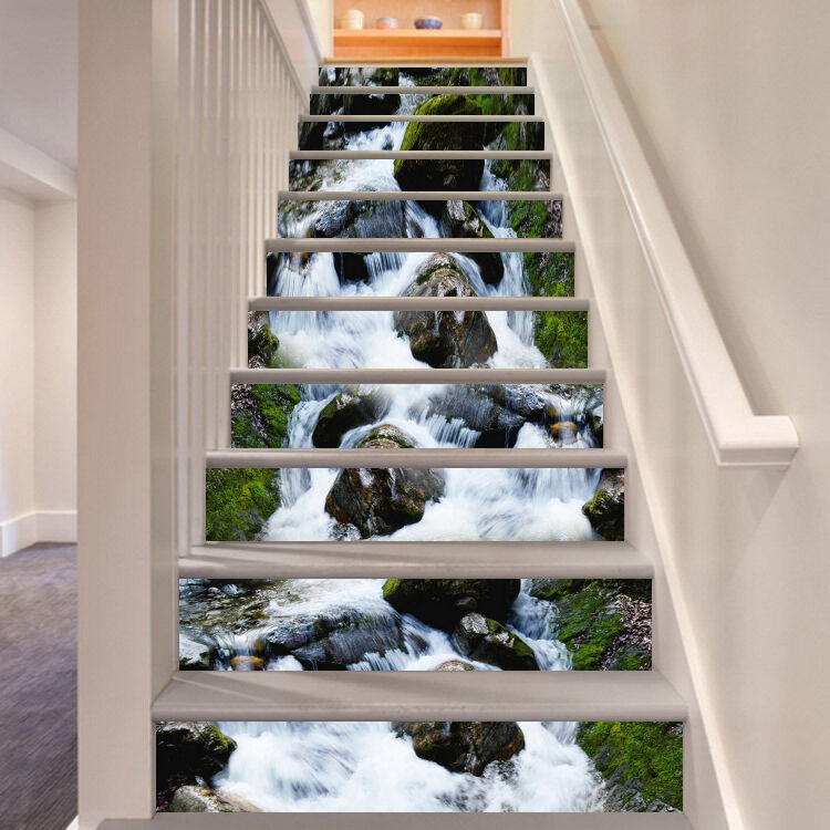 3D Stone water 36 Stair Risers Decoration Photo Mural Vinyl Decal Wallpaper UK