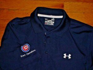 44f2c495 ... chicago cubs event operations polo shirt by under armour navy logos ...