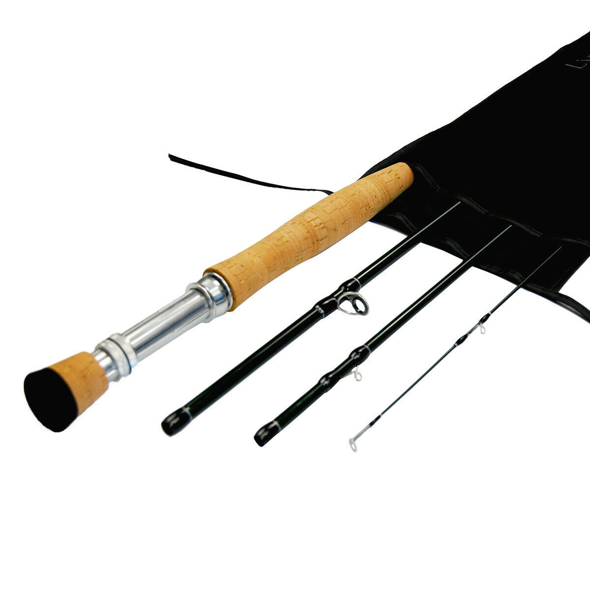 IM8 High Modulus carbon blank Black River Fly Rod New 9ft 4pc 5wt,2tips