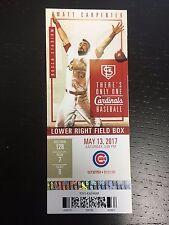 IAN HAPP CHICAGO CUBS MLB DEBUT GAME TICKET STUB 5/13/2017 UNUSED 6000131
