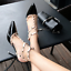 Womens-Patent-Rivets-Heels-T-Straps-Sandals-Pointed-Toe-Shoes-Stilettos-Zsell thumbnail 10