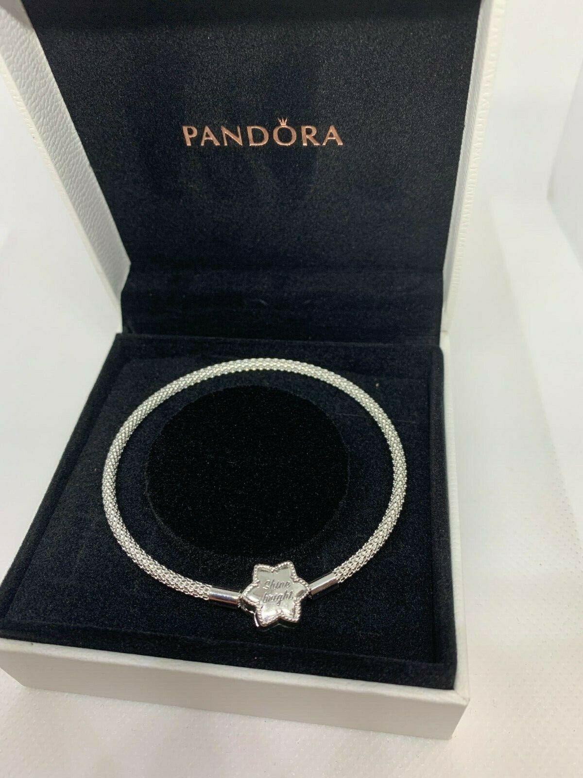 Authentic Pandora Moments Bright Snowflake Mesh Bracelet ...