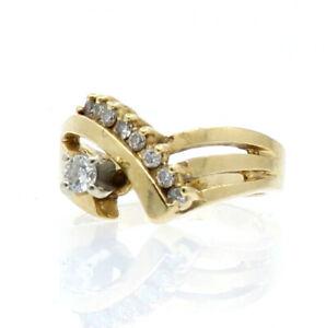 14K-YELLOW-GOLD-40ct-DIAMOND-LADIES-RING-SIZE-6-5