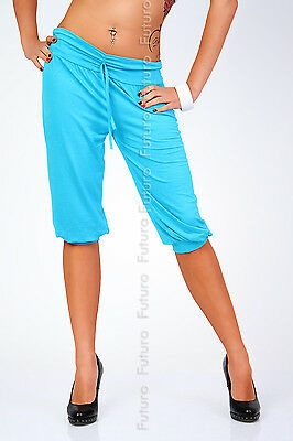Women's Cropped Harem Pants Trousers Activewear Shorts Sizes 8-18 FK1171