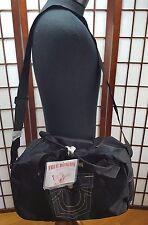 "True Religion ""Horseshoe"" Black Tote Shoulder Shopping Bag 17 x 14 Large"
