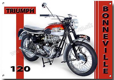 Vintage Triumph Bonneville T120 Motorcycle Maglietta