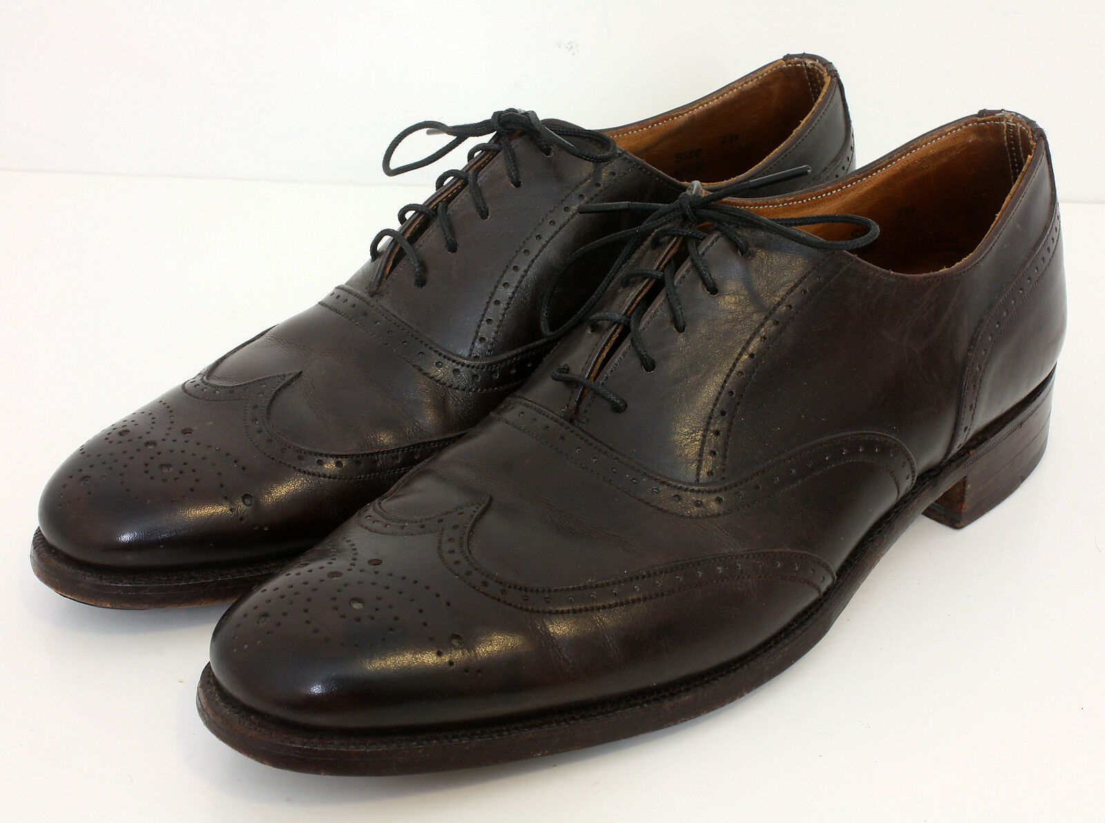 Cheaney X Paul Stuart Braun Leder Wing Tip Dress UK Schuhes Made England Sz 7.5 UK Dress 0434db