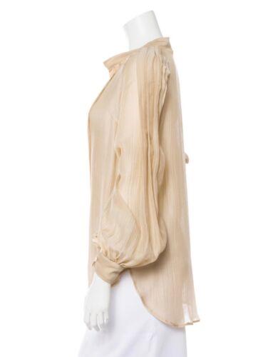 DRIES VAN NOTEN Silk blouse shirt Victorian pleat… - image 1
