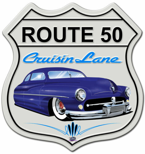 VINTAGE SIGN Mercury Cruisin/' Route 50 15 x 15