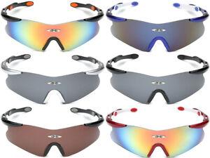 Oversized-Sport-Baseball-Cycling-Ski-Surf-Biker-Glasses-Men-039-s-Shield-Sunglasses