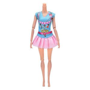 10 pcs  Beautiful Handmade Party Clothes Fashion Dress for  Doll FashionJB
