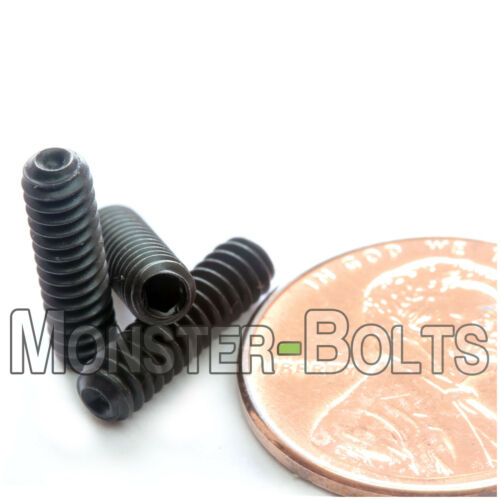 Cup Point Socket Set Screws Coarse SAE Alloy Steel w Thermal Black Oxide #6-32