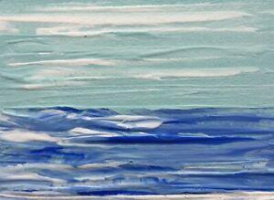 AQUA-SKY-BLUE-SEASCAPE-Acrylic-Gouache-ACEO-Painting-2-5-034-x3-5-034-Julia-Garcia-NEW
