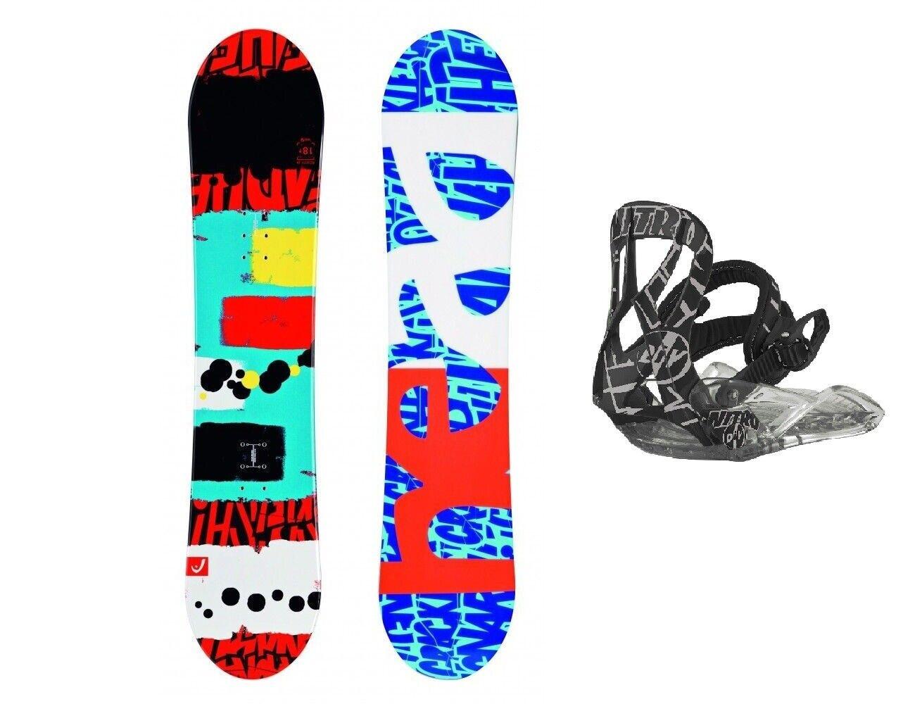 HEAD Rowdy JR 138 Kinder Snowboard Set inkl. NITRO Bindung Kid Junior Board Set
