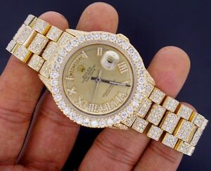 Rolex Day Date President Watch 19 25 Ct Iced Out Diamonds Celebrity Style Video