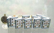 "DOLLHOUSE 1//12 Set of 10 Black Books Miniature /""Novel Idea/"" Steinbeck Titles"