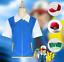 Pokemon-Ash-Ketchum-Trainer-Kostuem-Cosplay-Hemd-Jacke-Handschuhe-Hut-Ball Indexbild 1