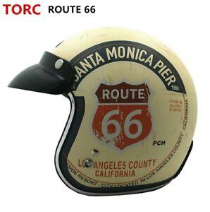 TORC-Motorcycle-Helmet-Vintage-Open-Face-Retro