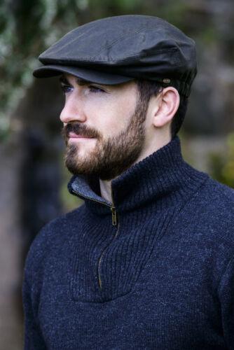 Mucros Green Wax Kerry Cap Hat Made in Ireland
