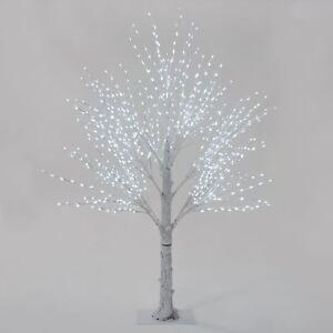 Giant luxury white twig christmas tree led lights 180cm 210cm indoor image is loading giant luxury white twig christmas tree led lights aloadofball Gallery