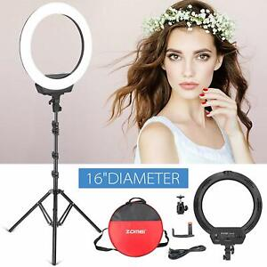 ZOMEI-16-034-SMD-LED-Ring-Light-Dimmable-Lighting-Lamp-With-Stand-For-Photography