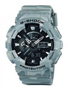Casio-Herrenuhr-Uhr-G-Shock-Camouflage-Grau-Licht-20-Bar-GA-110CM-8AER