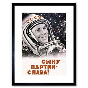 Propaganda Cosmonaut Gagarin USSR Communism Giant Wall Art Poster Print