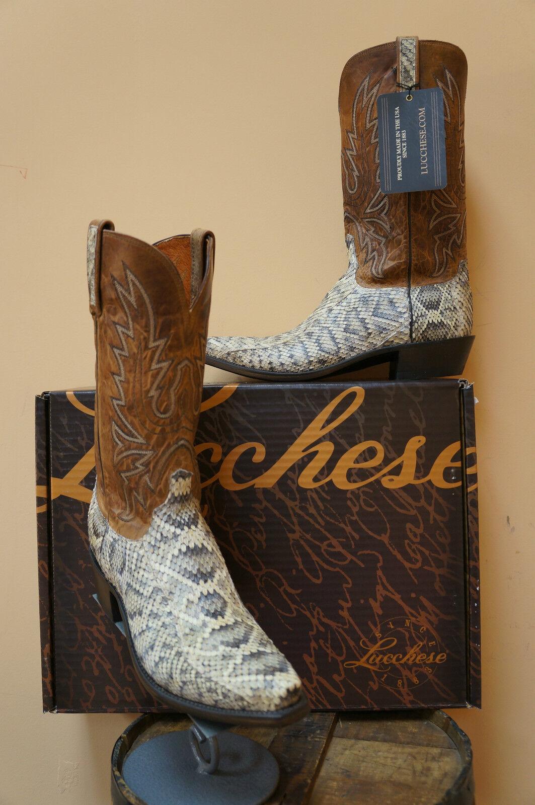 botas para hombre vaquero occidental Lucchese  Exotics  oriental Cascabel  N9610.54-NIB