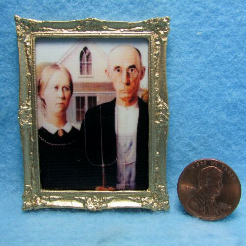 Dollhouse Miniature American Gothic ~ Classic for any Dollhouse ~ PF1048