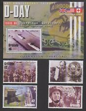 SET OF 60th ANNIVERSARY GRENADA TRIBUTE D-DAY MNH STAMPS WITH ONE SHEETLET