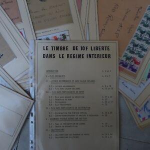 COLLECTION-ETUDE-SUR-LA-MARIANNE-10F-LIBERTE-N-2190-LETTRES-OBLITERATIONS