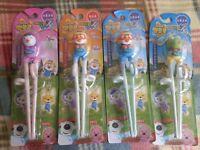 Korean Animation Pororo Petty Crong Edison Training Chopsticks Kids Right Left