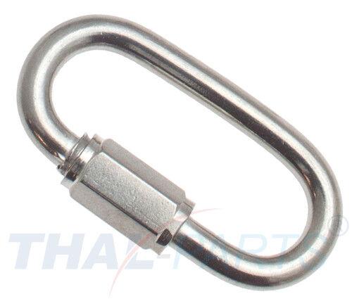 Kettennotglied 4mm Edelstahl Rostfrei Niro V4A Rapidglied Quick Link Kettenglied
