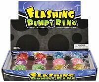 Rhode Island Novelty Flashing Led Bumpy Ring (24-pack) , New, Free Shipping on sale