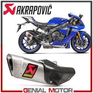 Details About Exhaust Titanium Approved Muffler Akrapovic For Yamaha Yzf R1 2015 2019