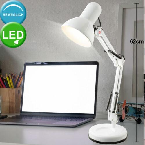 Luxus LED Tisch Leuchte Ess Zimmer Strahler Spot schwenkbar Beistell Lampe weiß