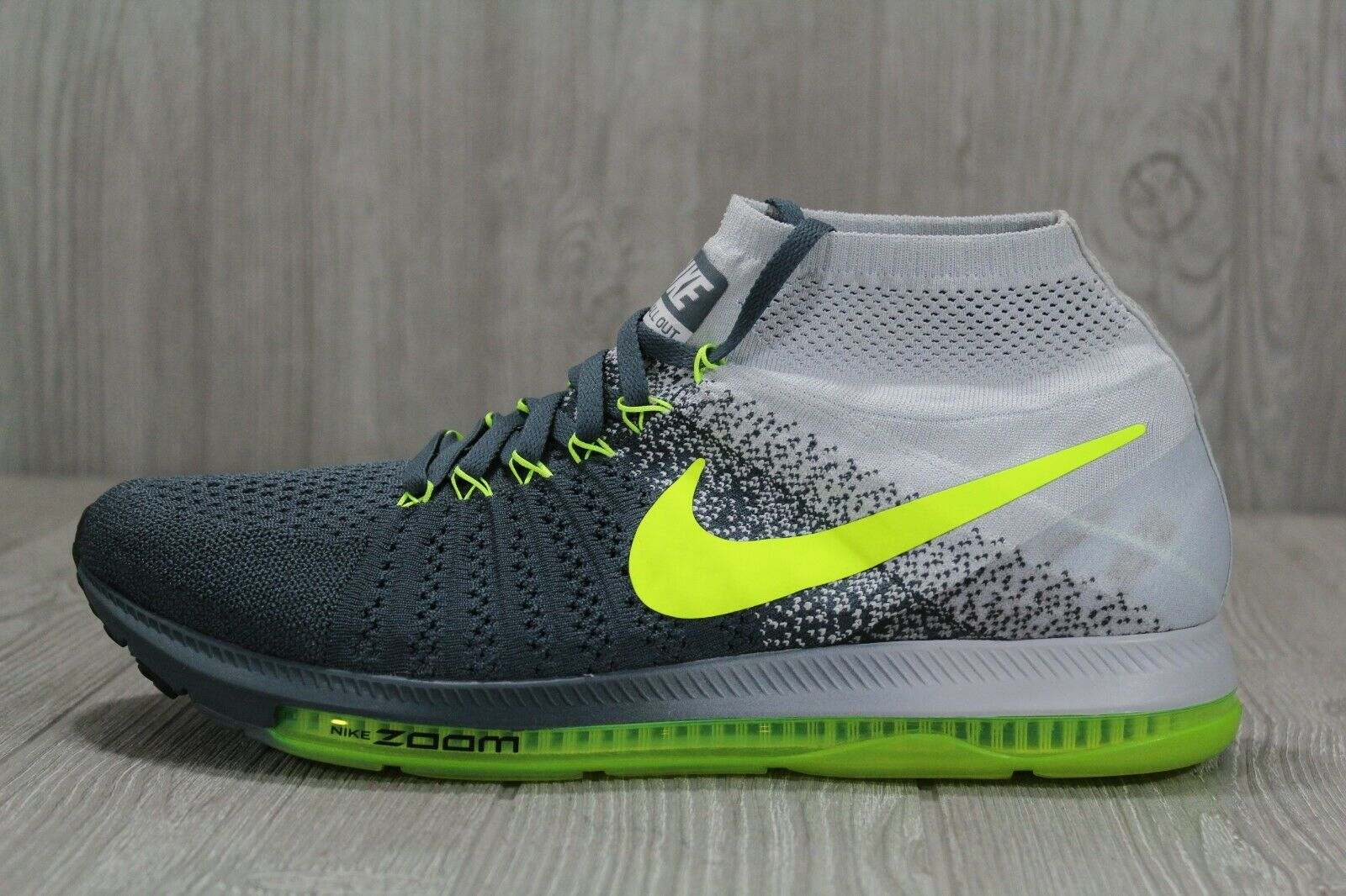 39 Nike Zoom All Out Flyknit Running bluee Fox Black Volt shoes 11.5 844134-407