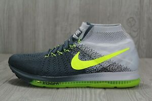 6631830b84b82 39 Nike Zoom All Out Flyknit Running Blue Fox Black Volt Shoes 11.5 ...