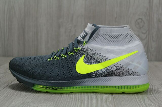 91ba3ff7fcfdb 41 Nike Zoom All Out Flyknit Running Blue Fox Black Volt Shoes 11.5  844134-407