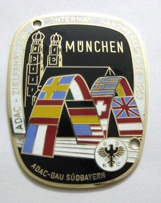 Munich Bavaria Rallye 1963 Car Grille Radiator Enamel Badge Emble Badges & Mascots Vehicle Parts & Accessories Sensible Adac Germany
