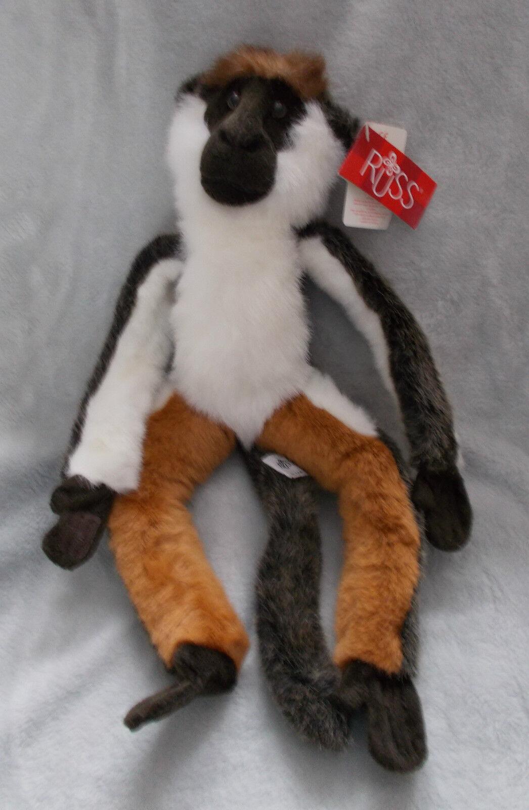 RARE-Russ Berrie & Co-sentwali-DIANA scimmia giocattolo morbido peluche/- 16