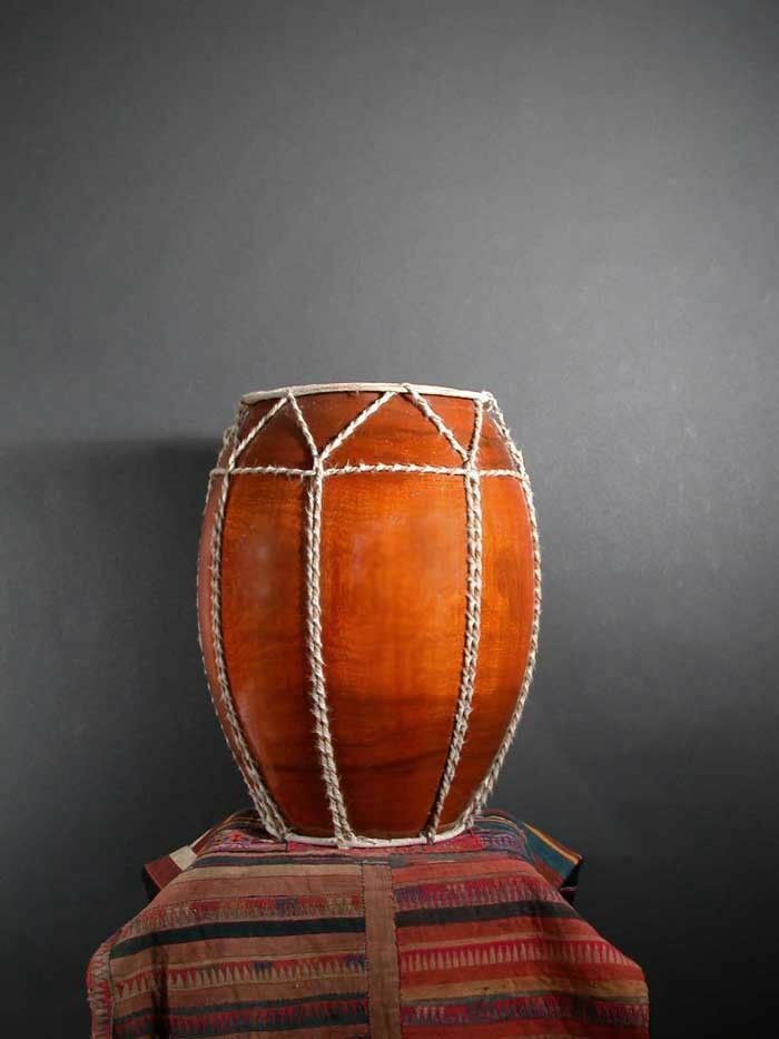 Tribal Drum From Golden Triangle   Gut & Wood - also works as great 18  Stool