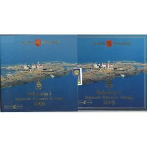 FINLANDE 2009 Serie 8 Monnaies + 1 MEDAILLE BU RAHASARJA 1
