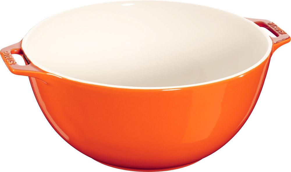 Staub Cerámica Ensaladera, Fuente de ensalada FRUTERO CUENCO orange 25cm